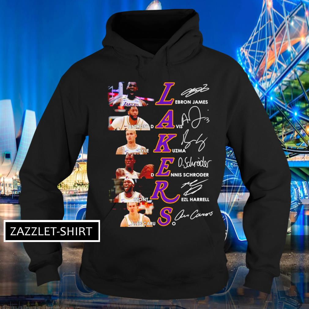 Los Angeles Lakers players signatures Hoodie
