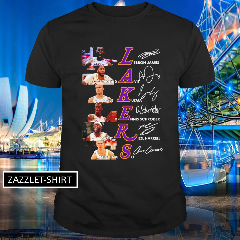 Los Angeles Lakers players signatures shirt