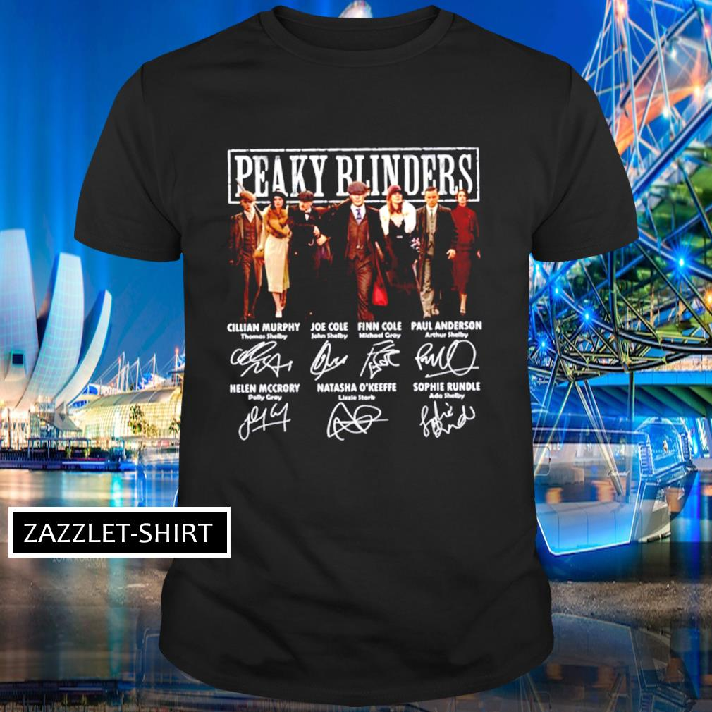 Peaky Blinders All cast signatures shirt