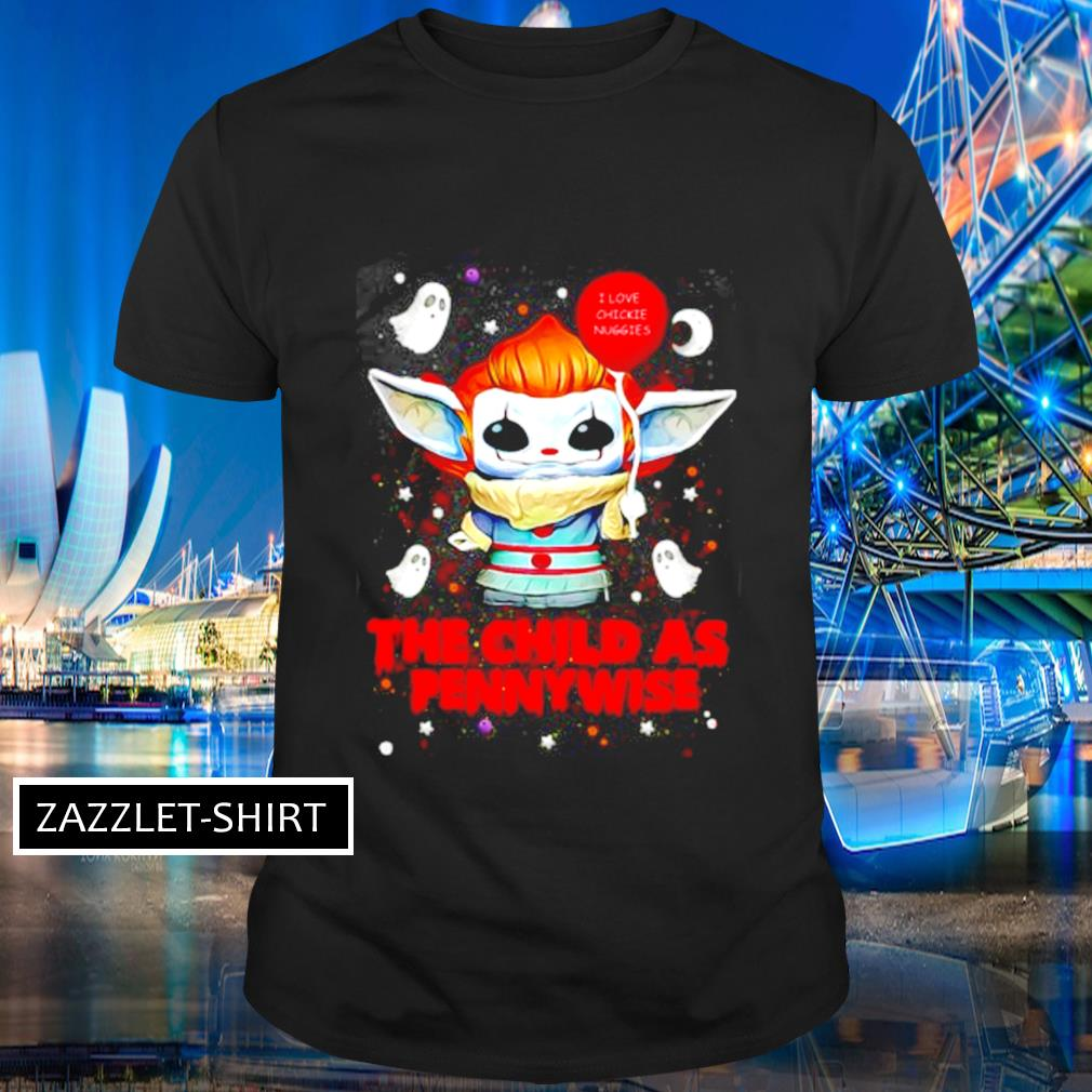 Baby Yoda the child as Pennywise shirt