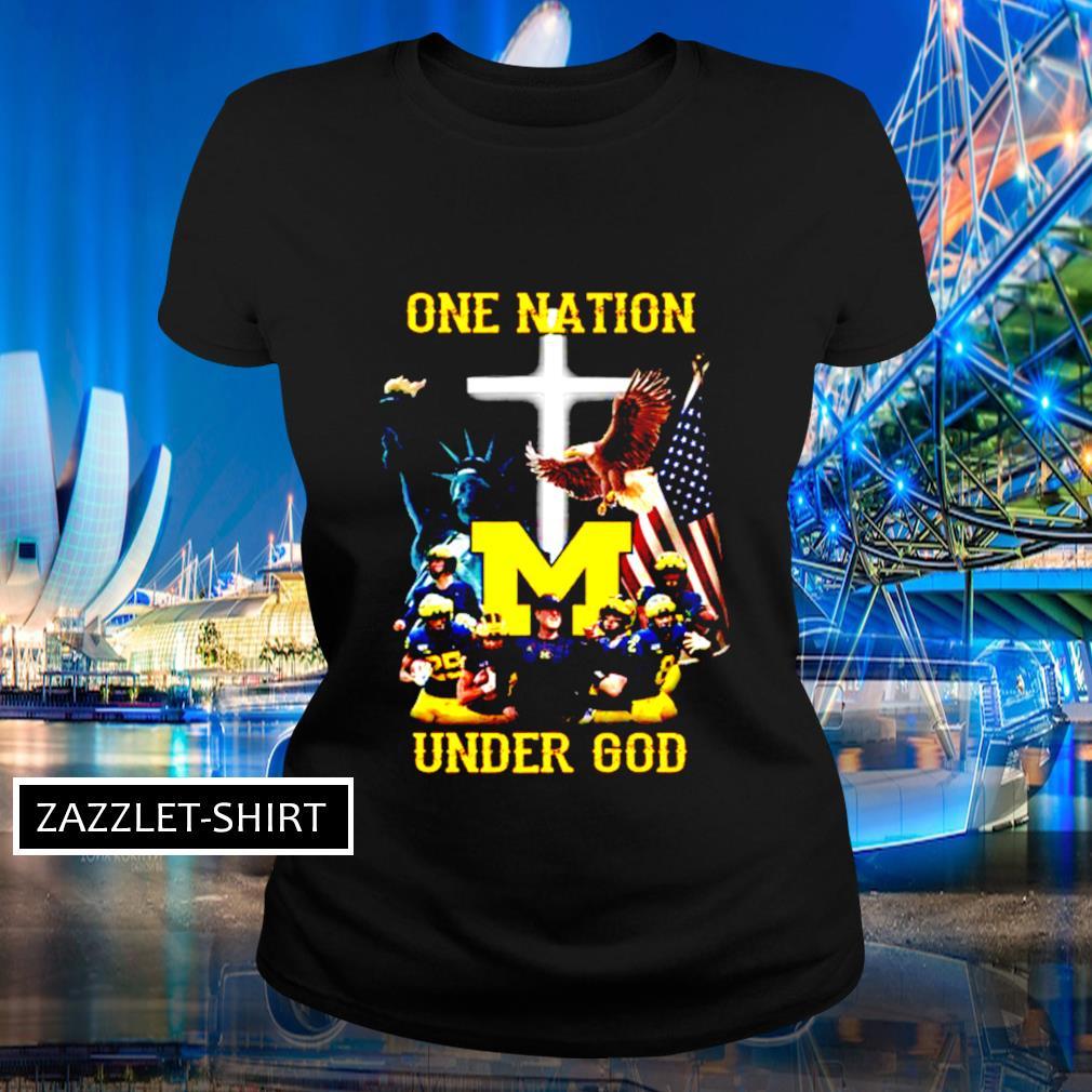 Michigan Wolverines one nation under God s Ladies-tee