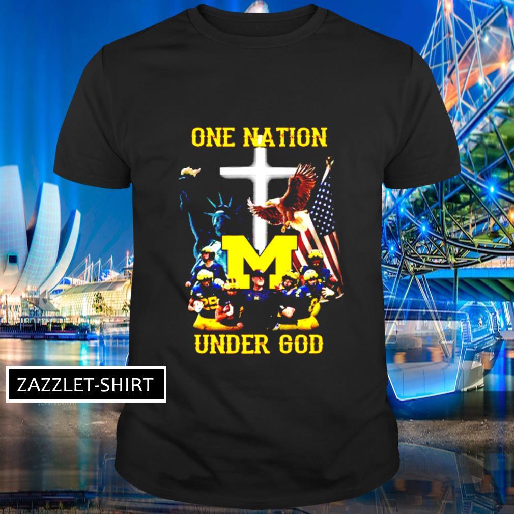 Michigan Wolverines one nation under God shirt