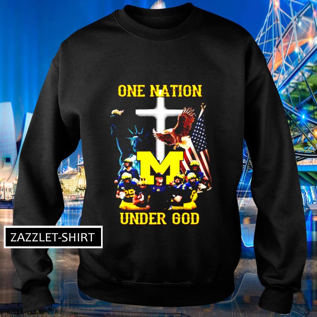 Michigan Wolverines one nation under God s Sweater