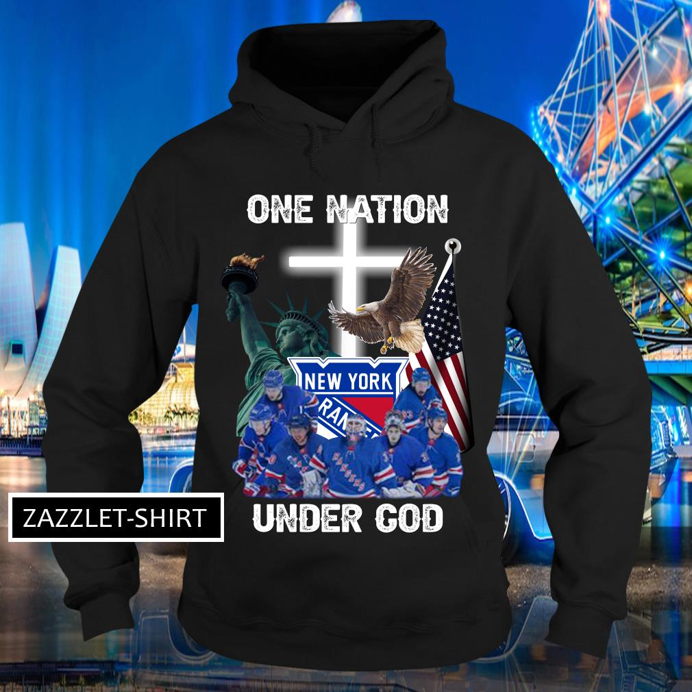 New York Rangers one nation under God shirt MF Hoodie