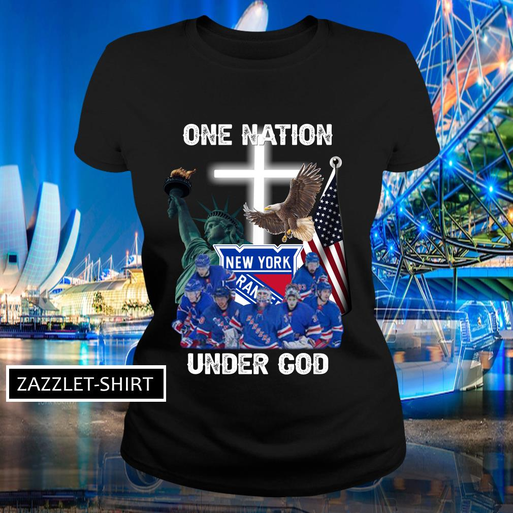 New York Rangers one nation under God shirt MF Ladies-tee