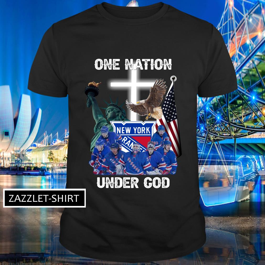 New York Rangers one nation under God shirt MF