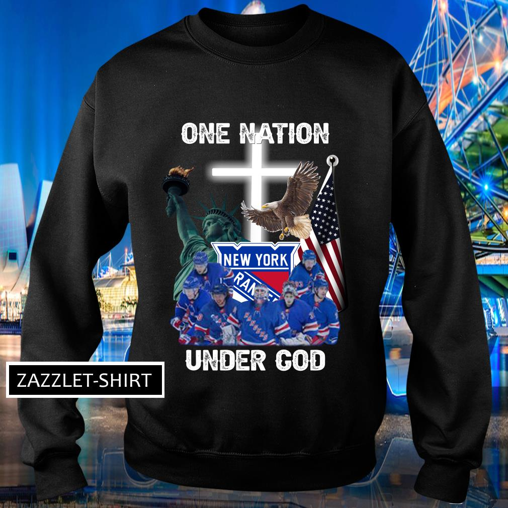 New York Rangers one nation under God shirt MF Sweater