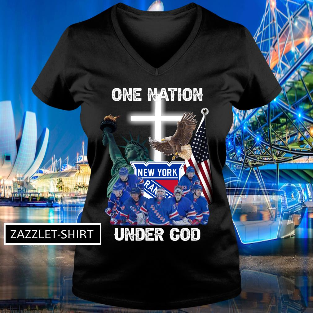 New York Rangers one nation under God shirt MF V-neck t-shirt