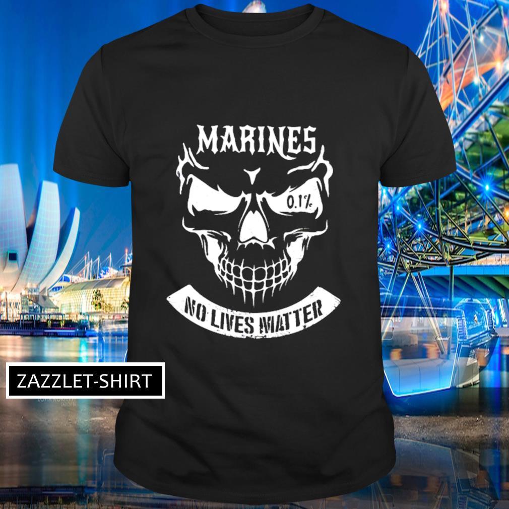 Skull marines no live matter shirt