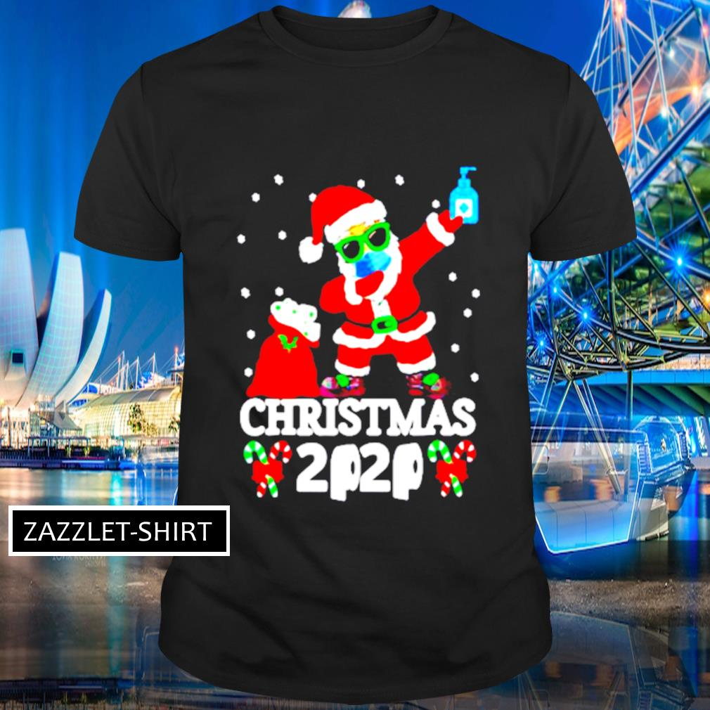 Dabbing Santa face mask toilet paper Christmas 2020 shirt