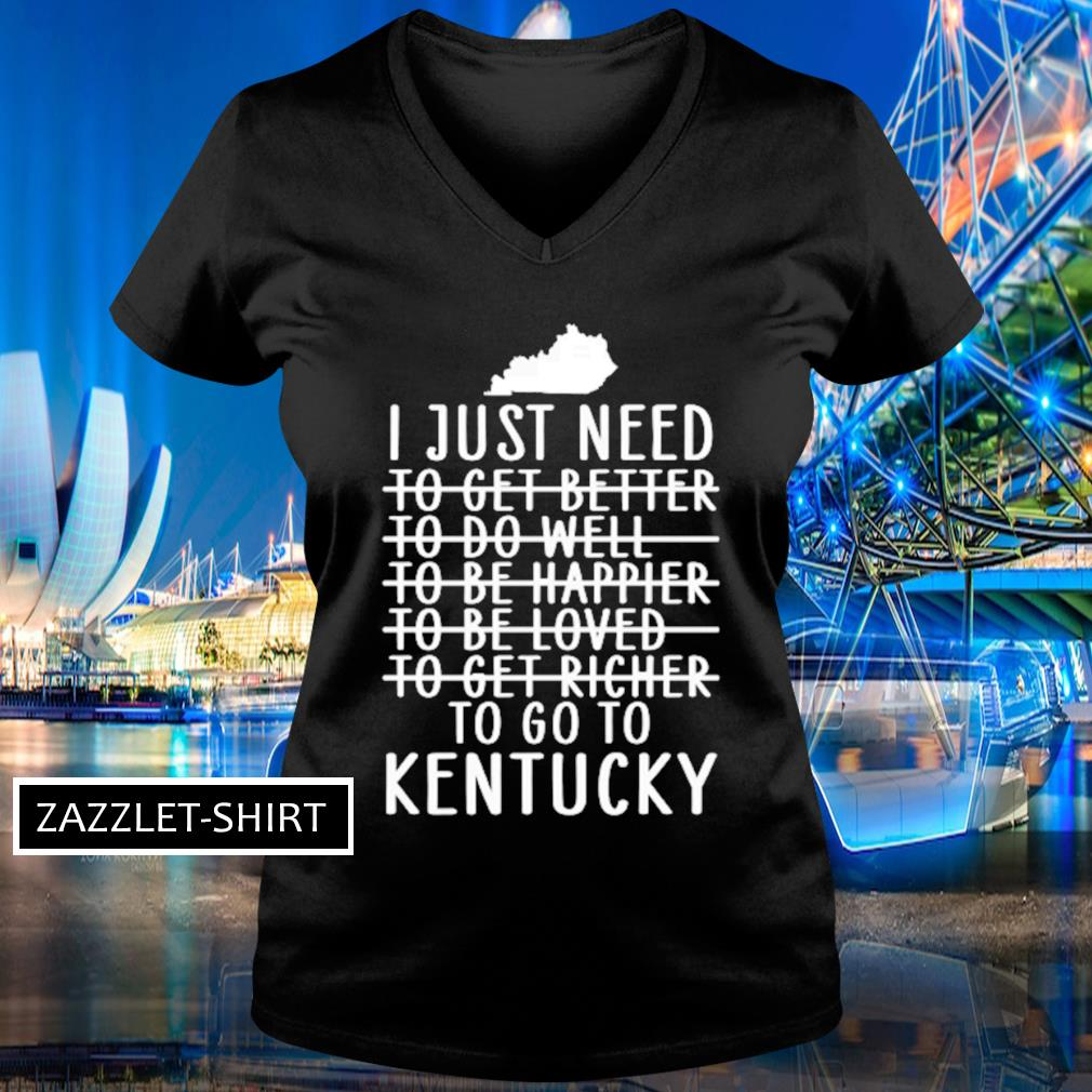 I just need to get better to do well s V-neck t-shirt
