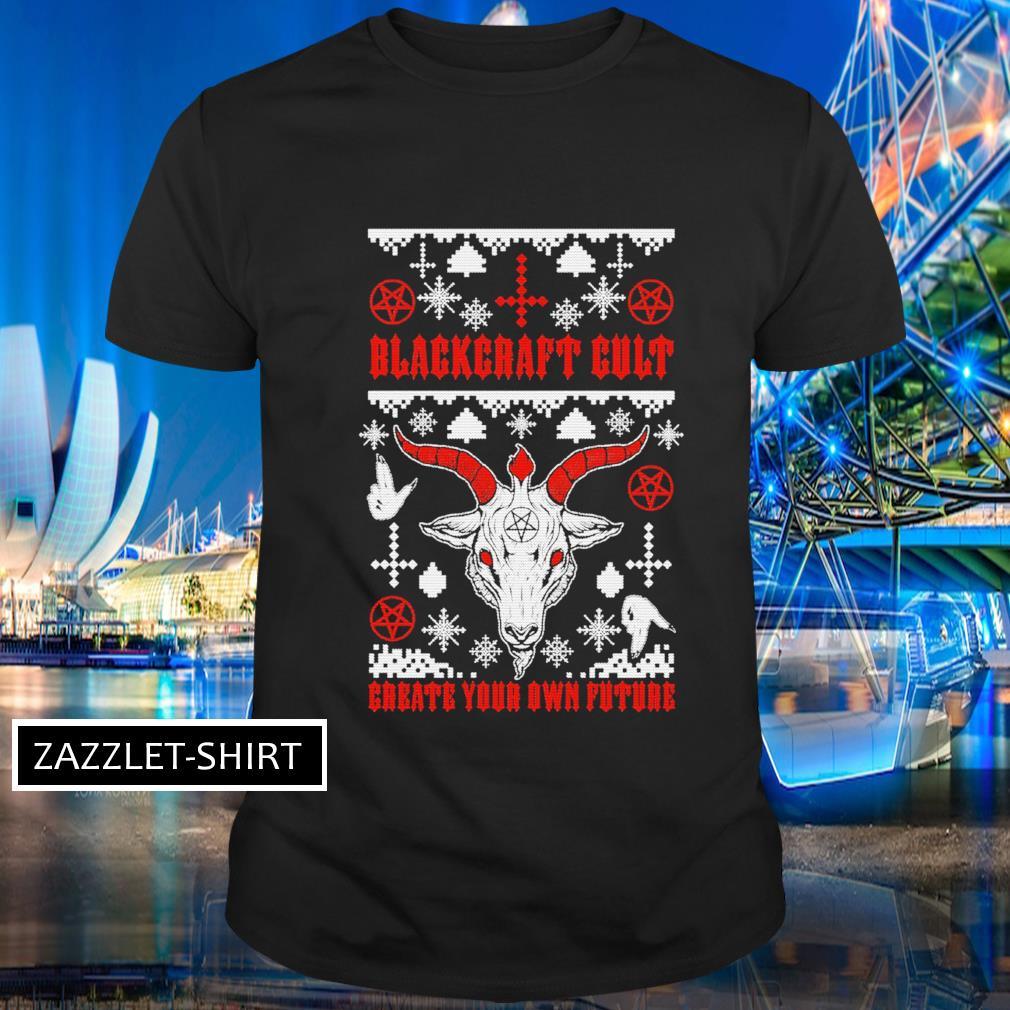 Santa Blackcraft Cult create your own future ugly Christmas shirt