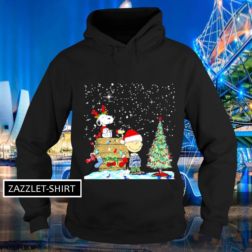 Snoopy and Charlie Brown Woodstock Christmas tree s Hoodie