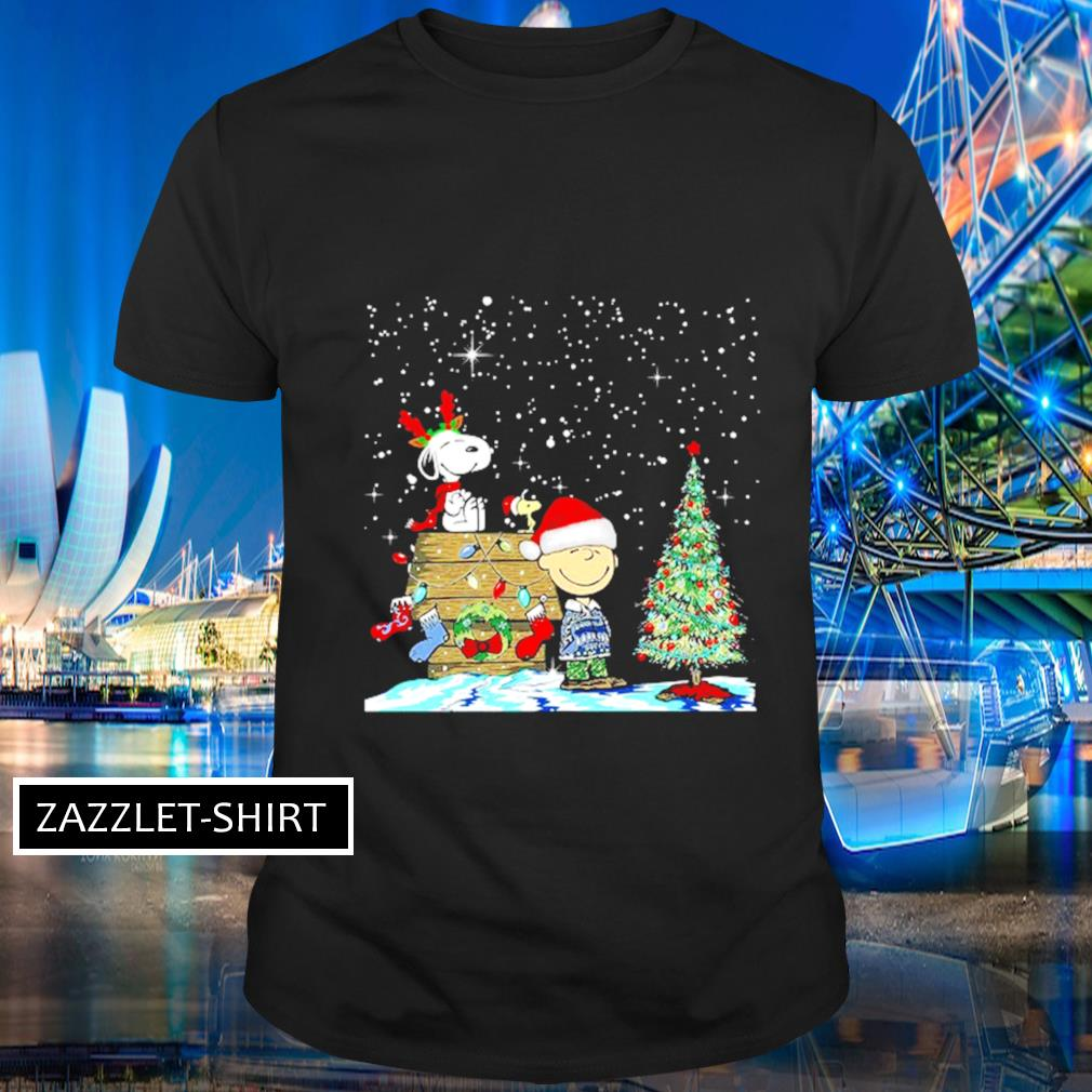 Snoopy and Charlie Brown Woodstock Christmas tree shirt
